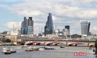 Вид на район Сити с моста